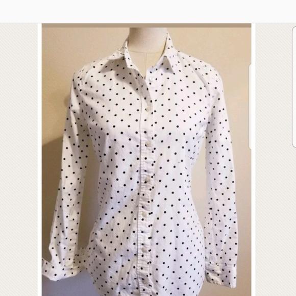 1d4682db LC Lauren Conrad Tops - 🛍🛍 Lauren Conrad Polka Dot Blouse Shirt Black